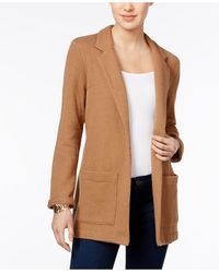 Style & Co. | Jacquard Open-front Blazer | Lyst