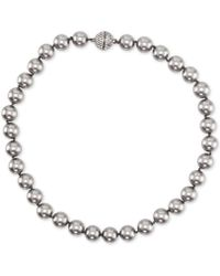 """Nina - Gold-tone Swarovski Ball & Colored Pearl 17"""" Magnetic Collar Necklace, Created For Macy's - Lyst"""