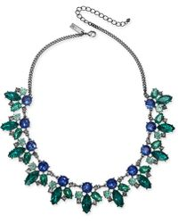 """INC International Concepts - I.n.c. Hematite-tone Multi-crystal Statement Necklace, 18"""" + 3"""" Extender, Created For Macy's - Lyst"""