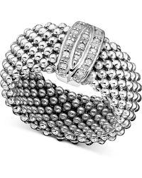 Macy's - Sterling Silver Ring, Diamond Mesh (1/8 Ct. T.w.) - Lyst
