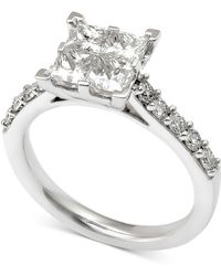 Macy's - Diamond Quad Engagement Ring (2 Ct. T.w.) In 14k White Gold - Lyst