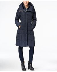 Cole Haan - Layered Maxi Puffer Coat - Lyst