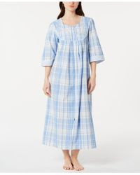 Eileen West Seersucker Ballet Wrap Robe in Blue - Lyst