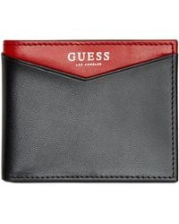 Guess - Huntington Colorblocked Leather Billfold Wallet - Lyst
