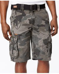 Affliction - Men's Camo Cargo Shorts - Lyst