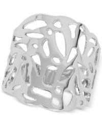 Touch Of Silver - Filigree Statement Ring In Silver-plate - Lyst