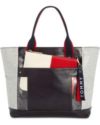 Tommy Hilfiger - Classic Tommy Coated Fleece Tote - Lyst