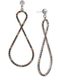 BCBGMAXAZRIA - Hematite-tone Crystal Confetti Twist Drop Earrings - Lyst