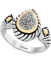 Effy Collection - Balissima By Effy® Diamond Two-tone Ring (1/10 Ct. T.w.) In Sterling Silver & 18k Gold - Lyst