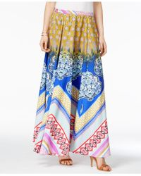 Cable & Gauge - Printed A-line Maxi Skirt - Lyst