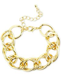Charter Club - Gold-tone Open Link Bracelet, Created For Macy's - Lyst