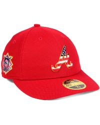 KTZ - Atlanta Braves Stars And Stripes Low Profile 59fifty Fitted Cap 2018  - Lyst 6eaa8df6c9e0