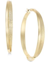 INC International Concepts - I.n.c. Large 1.8'' Gold-tone Two-row Textured Hoop Earrings, Created For Macy's - Lyst