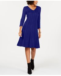 Nine West - Cable-knit Sweater Dress - Lyst