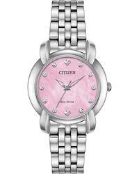 Citizen - Jolie Diamond-accent Stainless Steel Bracelet Watch 30mm - Lyst