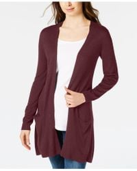 Maison Jules - Long Open-front Jersey Cardigan, Created For Macy's - Lyst