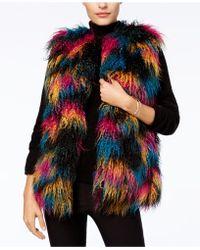INC International Concepts - Multicolor Mongolian Faux-fur Vest - Lyst