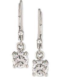 Carolee - Silver-tone Crystal Drop Earrings - Lyst