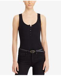 Denim & Supply Ralph Lauren - Stretch Henley Bodysuit - Lyst