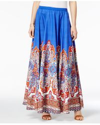 Cable & Gauge - Damask-print Maxi Skirt - Lyst
