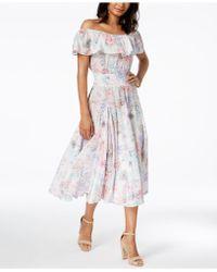 Olivia & Grace - Cotton Flounce Peasant Dress - Lyst