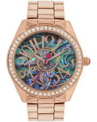 Betsey Johnson - Abalone Optical Swirl Dial Bracelet Watch - Lyst