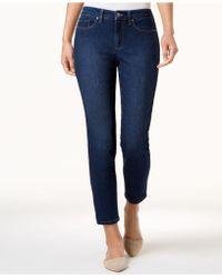 Charter Club - Petite Dark Wash Tummy Control Skinny Jeans, Created For Macy's - Lyst