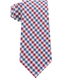 bd577a629846 Tommy Hilfiger Men's Exploded Check Slim Tie in Yellow for Men - Lyst