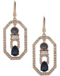 Ivanka Trump - Gold-tone Crystal Openwork Drop Earrings - Lyst
