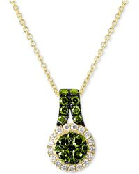 "Le Vian - Exotics® Diamond Halo 18"" Pendant Necklace (5/8 Ct. T.w.) In 14k Gold - Lyst"