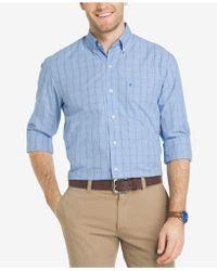 Izod - Men's Plaid Shirt - Lyst