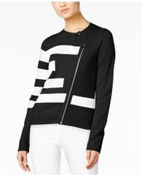 Olivia & Grace - Asymmetrical-zip Sweater Jacket - Lyst