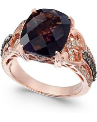 Le Vian - Smoky Quartz (4-1/2 Ct. T.w.) And Diamond (1/2 Ct. T.w.) Ring In 14k Rose Gold - Lyst