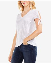 Vince Camuto - Cotton Tie-sleeve T-shirt - Lyst