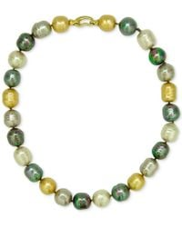 Majorica - 18k Gold-plated Multicolor Imitation Pearl Bead Necklace - Lyst
