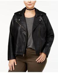 Levi's - Plus Size Faux-leather Moto Jacket - Lyst