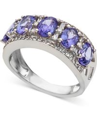 Macy's - Emerald (1-1/2 Ct. T.w.) & Diamond (1/3 Ct. T.w.) Ring In 14k White Gold (also In Sapphire, Certified Ruby & Tanzanite) - Lyst
