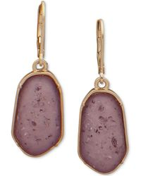 Lonna & Lilly - Gold-tone Stone Drop Earrings - Lyst