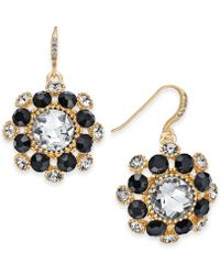 Charter Club - Gold-tone Crystal & Stone Cluster Drop Earrings, Created For Macy's - Lyst