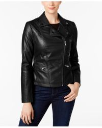 INC International Concepts - Faux-leather Moto Jacket - Lyst