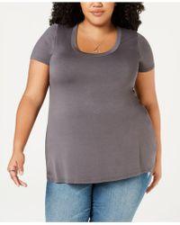 14ce8314a118f4 Soprano - Trendy Plus Size Scoop-neck T-shirt - Lyst