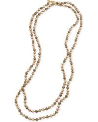 Carolee - Gold-tone Gray Imitation Pearl Long Length Necklace - Lyst