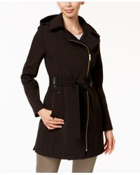 Via Spiga - Faux-leather-trim Asymmetrical Coat - Lyst