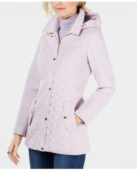 Jones New York - Petite Quilted Hooded Coat - Lyst