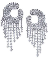 Joan Boyce | Silver-tone Crystal Chandelier Earrings | Lyst