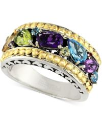 Effy Collection - Effy® Multi-gemstone Ring (1-5/8 Ct. T.w.) In Sterling Silver & 18k Gold - Lyst