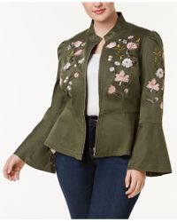 INC International Concepts   Plus Size Embroidered Peplum Military-inspired Jacket   Lyst