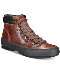 Frye - Ryan Lug Leather Hikers - Lyst