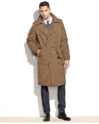 London Fog - Coat, Iconic Belted Trench Raincoat - Lyst