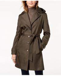 CALVIN KLEIN 205W39NYC - Belted Waterproof Trench Coat - Lyst